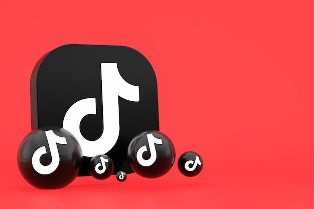 Renderowanie 3d logo aplikacji tiktok