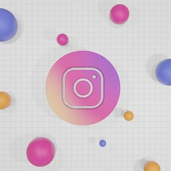 Renderowanie 3d logo mediów społecznościowych