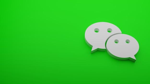 Renderowanie 3d logo wechat z miejsca na kopię