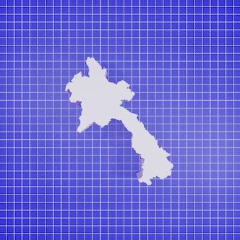 Renderowanie 3d mapa laosu