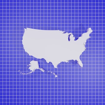 Renderowanie 3d mapa stanów zjednoczonych