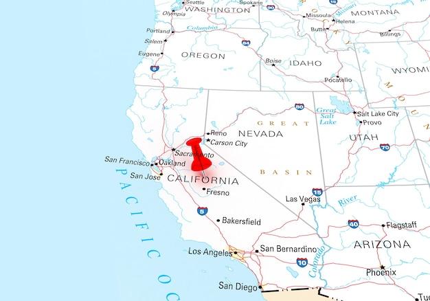 Renderowanie 3d mapy stanu kalifornia