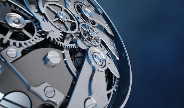Renderowanie 3d mechanizmu zegarowego