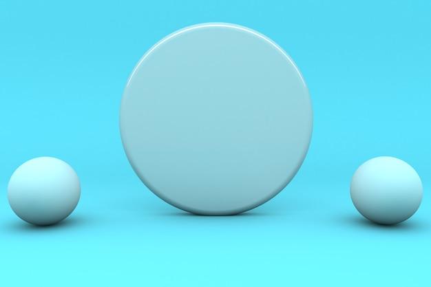Renderowanie 3d, minimalistyczne abstrakcyjne, prymitywne figury geometryczne