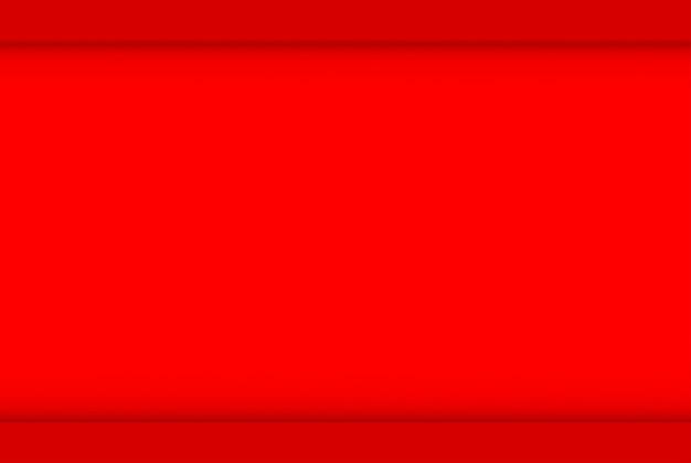Renderowanie 3d. minimalna pusta przestrzeń czerwona ściana projekt sztuka tło.