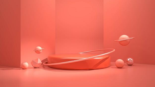 Renderowanie 3d nowoczesnego minimalistycznego podium
