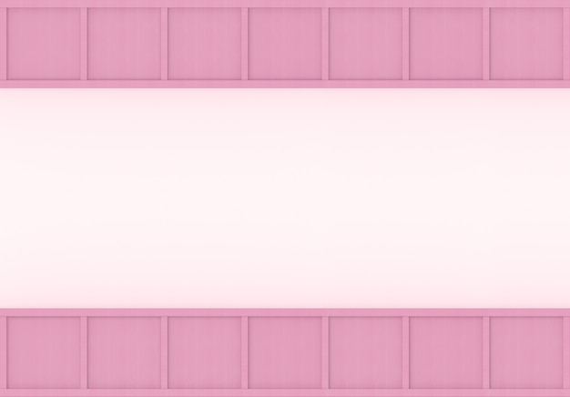 Renderowanie 3d. nowoczesny słodki miękki kolor różowy drewno kwadratowe pudełko projekt ściany tło.