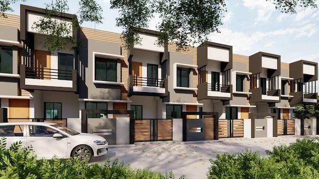Renderowanie 3d nowoczesnych domów