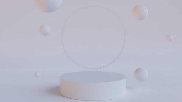 Renderowanie 3d pastelowego cokołu
