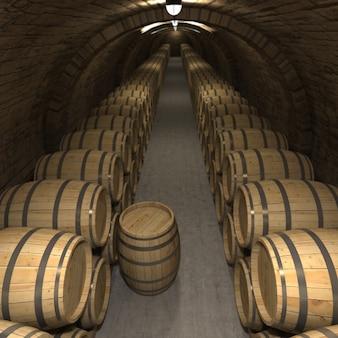 Renderowanie 3d piwnicy z winami