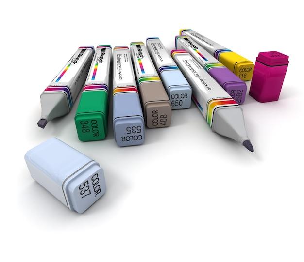 Renderowanie 3d profesjonalnych markerów
