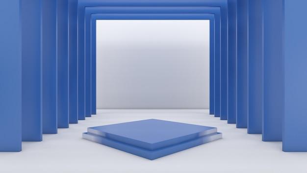 Renderowanie 3d prostokąta podium dla produktu pokazowego