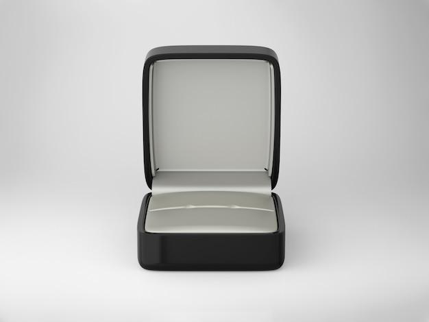 Renderowanie 3d puste pudełko z biżuterią na białym tle
