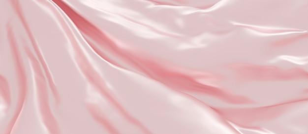 Renderowanie 3d różowe tkaniny luksusowe tło