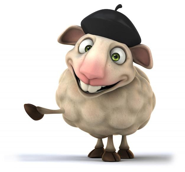 Renderowanie 3d śmieszne owiec