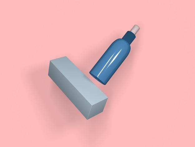 Renderowanie 3d środka do czyszczenia rąk do dezynfekcji covid,