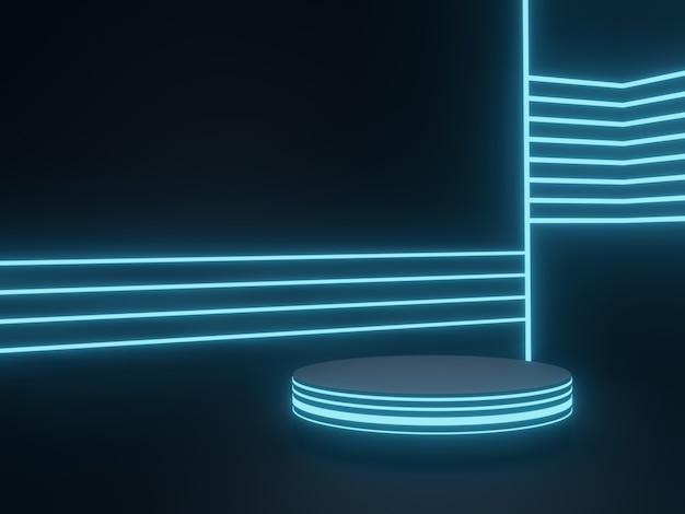 Renderowanie 3d stojak na produkty sci fi