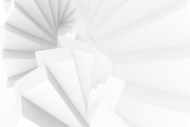 Renderowanie 3d. streszczenie nowoczesne białe tło ściany stosu kilka kwadratowych kształtów.