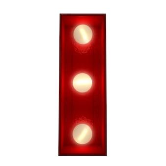 Renderowanie 3d świecącej litery i idealne do wyświetlania znaków biznesowych