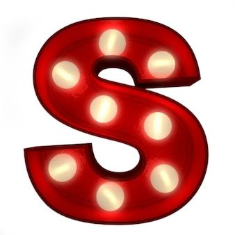 Renderowanie 3d świecącej litery s, idealne do wyświetlania znaków biznesowych