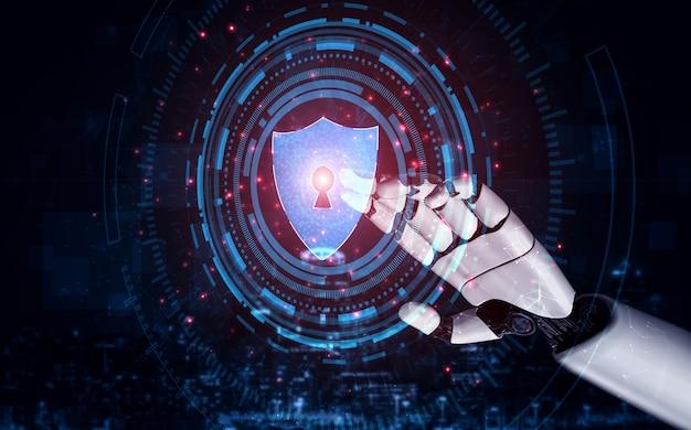 Renderowanie 3d sztuczna inteligencja badania nad rozwojem robotów i cyborgów dla przyszłości ludzi