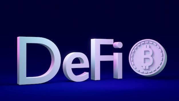 Renderowanie 3d tekstu definiuj z monetą jako odniesienie do łańcucha bloków na zdecentralizowanej koncepcji w tle