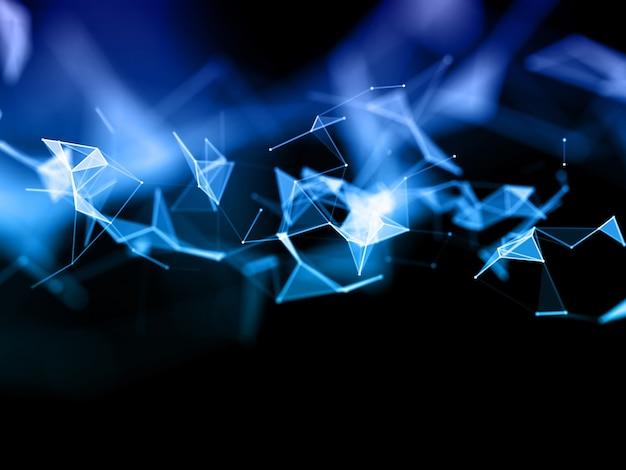 Renderowanie 3d Tła Komunikacyjnego Sieci Low Poly Z Projektem Splotu Darmowe Zdjęcia