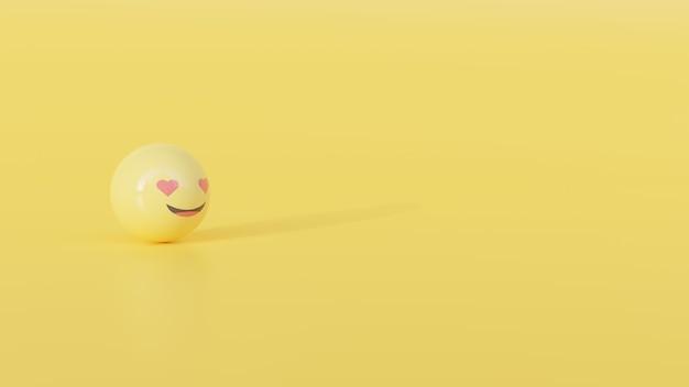 Renderowanie 3d tła kształtu emoji