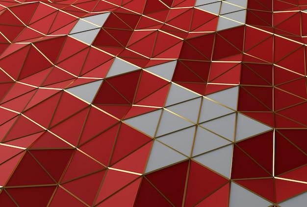 Renderowanie 3d trójkątne low poly