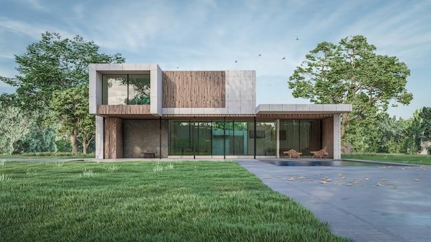 Renderowanie 3d wizualizacji domu