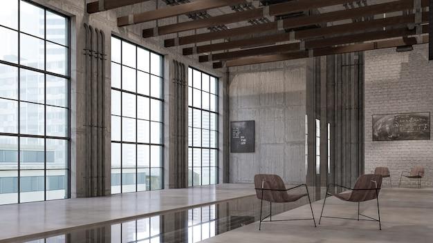 Renderowanie 3d wnętrz wizualizacji salonu