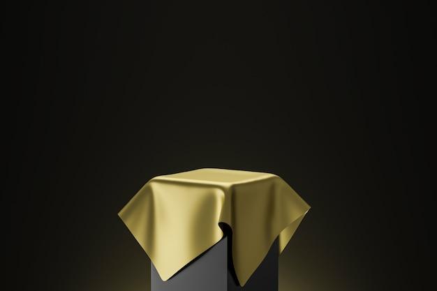 Renderowanie 3d złotego postumentu