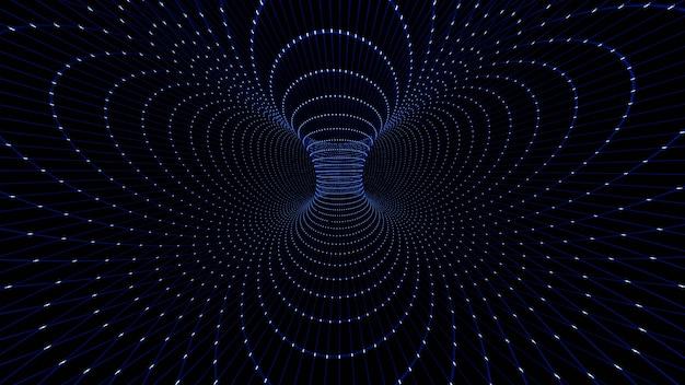 Renderowanie drutu 3d black hole.