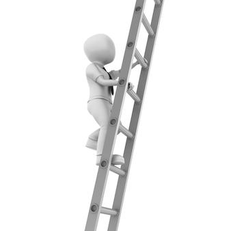 Renderowanie ilustracja postać z kreskówki na schodach