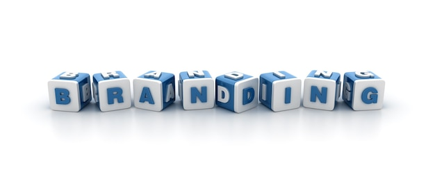 Renderowanie ilustracji bloków płytek za pomocą programu word branding