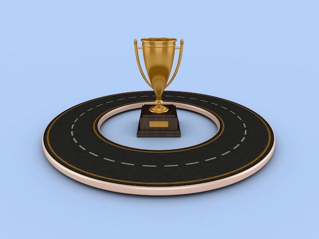 Renderowanie ilustracji drogi z trofeum