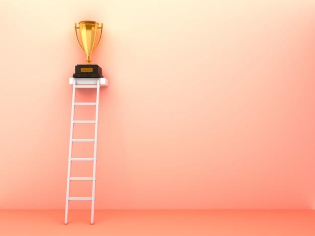 Renderowanie ilustracji schodów i trofeum