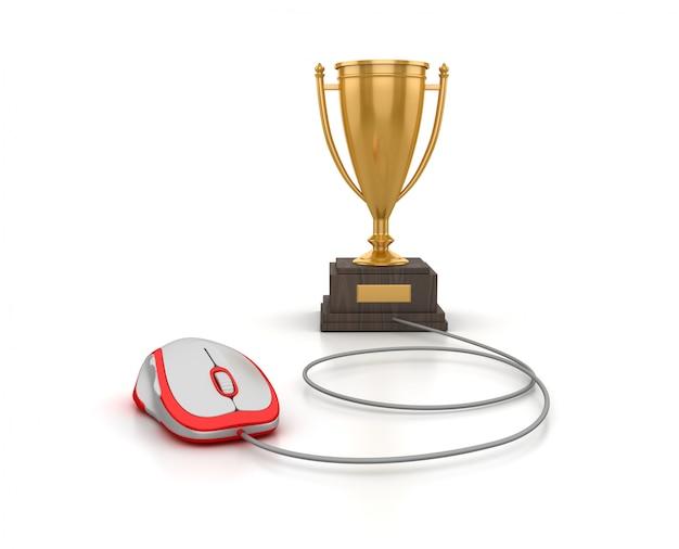 Renderowanie ilustracji trofeum za pomocą myszy komputerowej