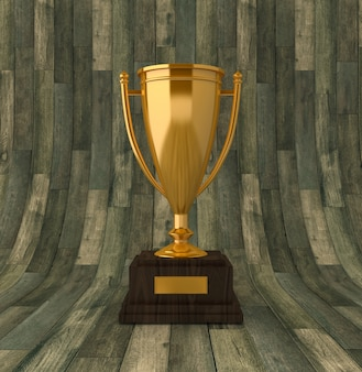 Renderowanie ilustracji trofeum