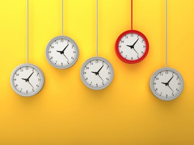 Renderowanie ilustracji wiszących zegarów