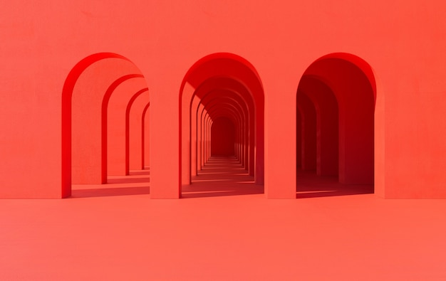 Renderowanie kolumn łukowych portalu korytarza łukowego