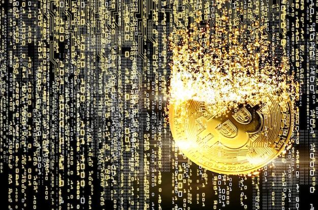 Renderowanie koncepcji wydobywania bitcoinów