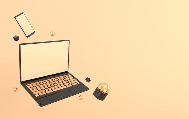 Renderowanie laptopa i telefonu