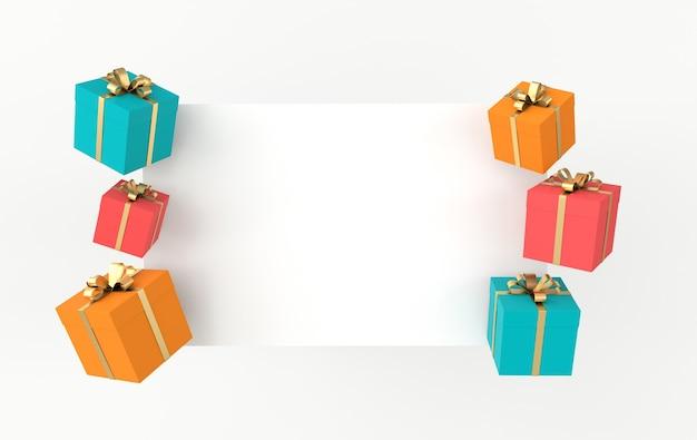 Renderowanie realistycznego kolorowego pudełka