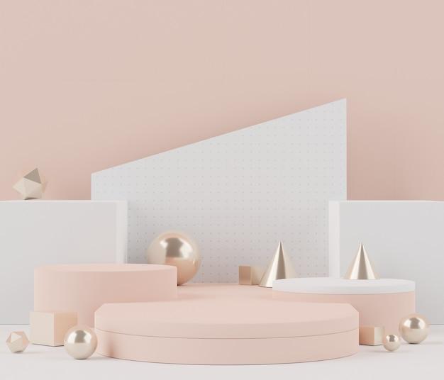 Renderowanie realistycznego nowoczesnego minimalistycznego podium