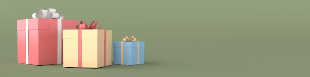 Renderowanie realistycznego pudełka z kokardą wstążki