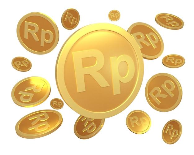 Renderowanie waluty rupii monet