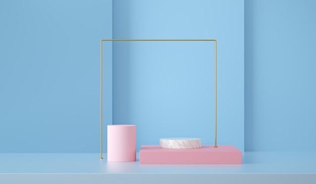 Renderuj abstrakcyjne tło sceny i kształtów do wyświetlania produktu
