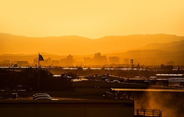 Reno nevada zachód słońca