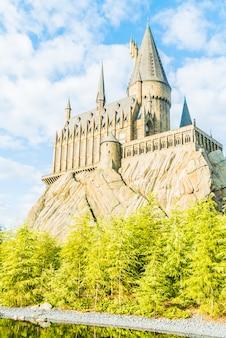 Replika magicznej i czarodziejskiej świątyni hogwarts school of witchcraft